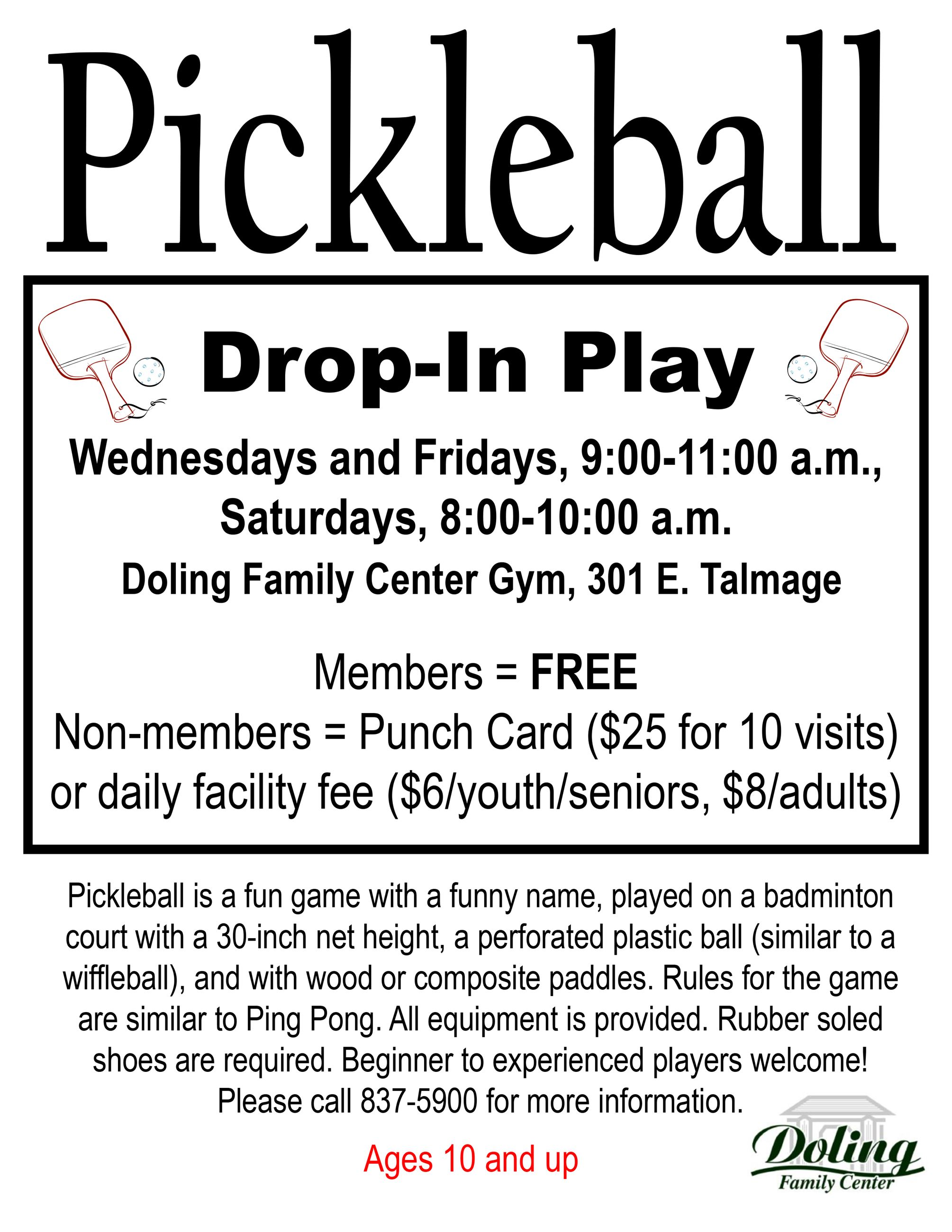 Pickleball Flyer