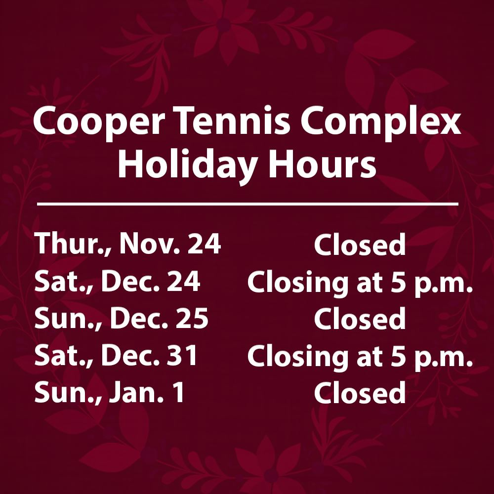 Cooper Holiday Hours