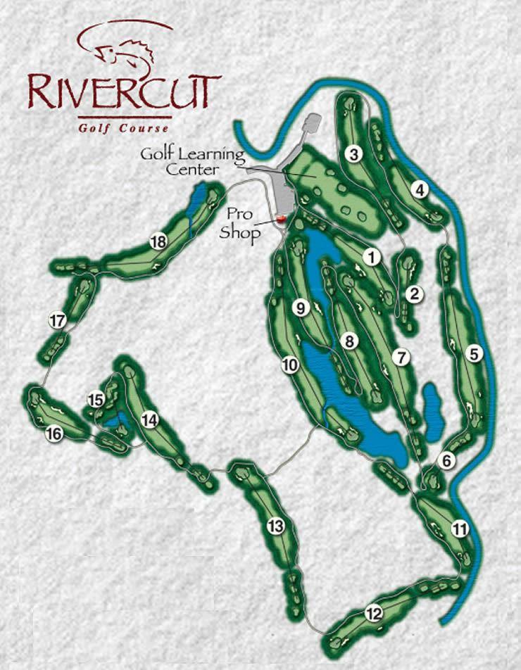 Rivercut Golf Course Map