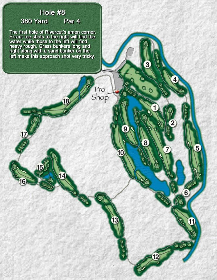 Rivercut Golf Course Hole 8