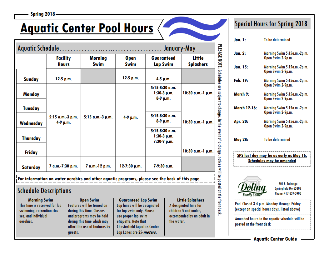 Doling indoor aquatic center springfield greene county park board doling aquatic center guide preview 1betcityfo Image collections