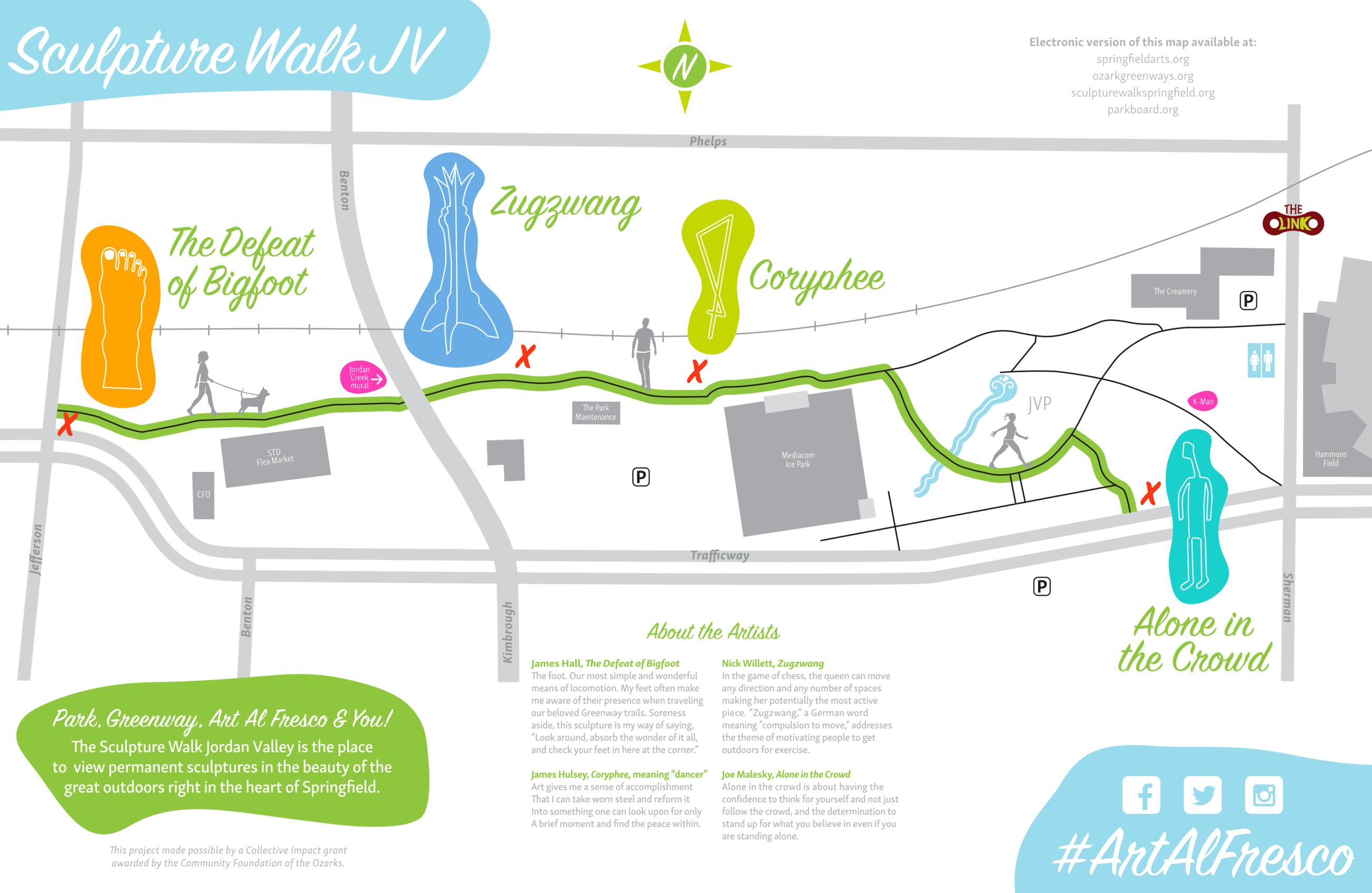 Sculpture Walk JV Map