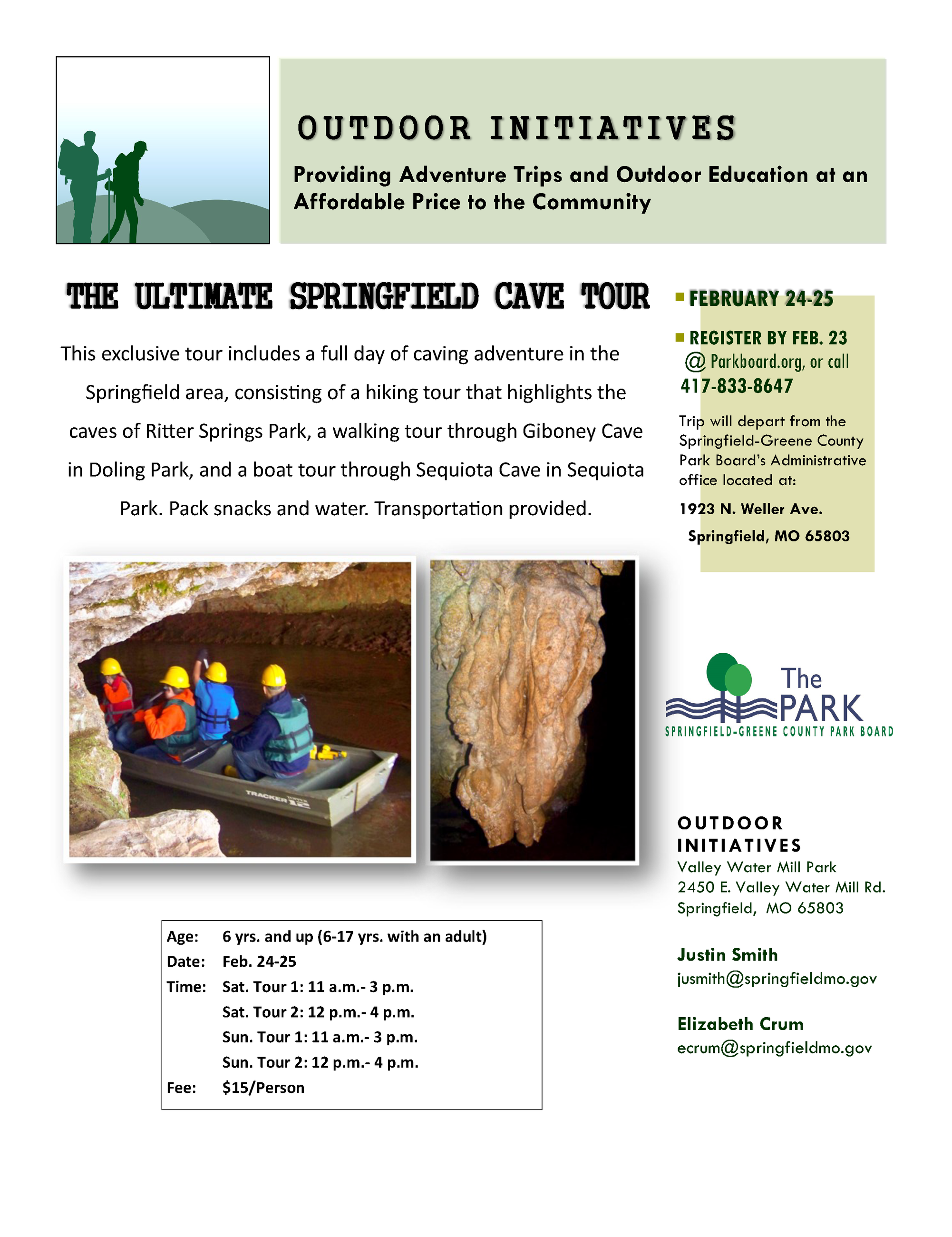 The Ultimate Springfield Cave Tour feb 18