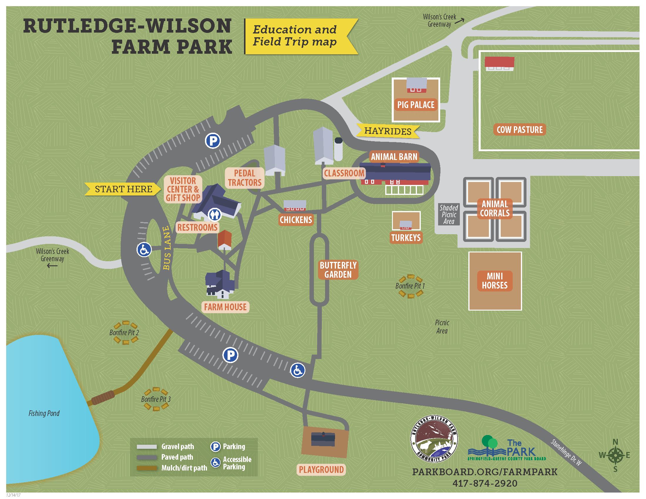 Rutledge-Wilson Farm Park Field Trip Map