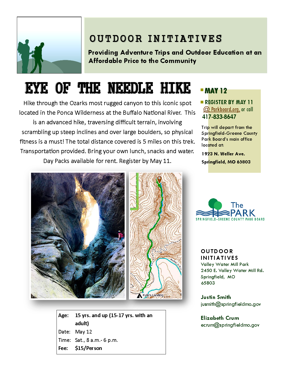 Eye of the Needle Hike Flyer