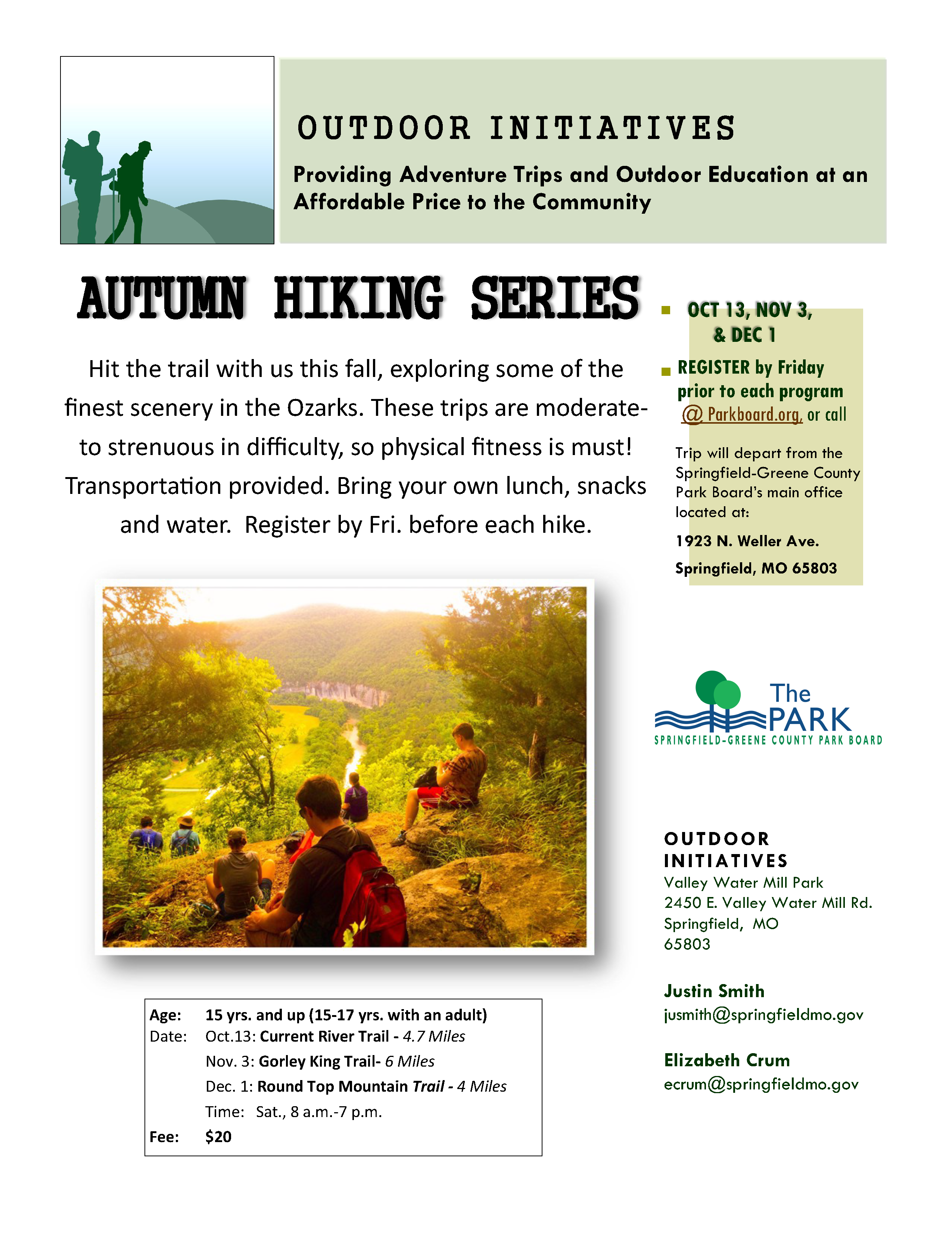 BR Hiking Series Flyer