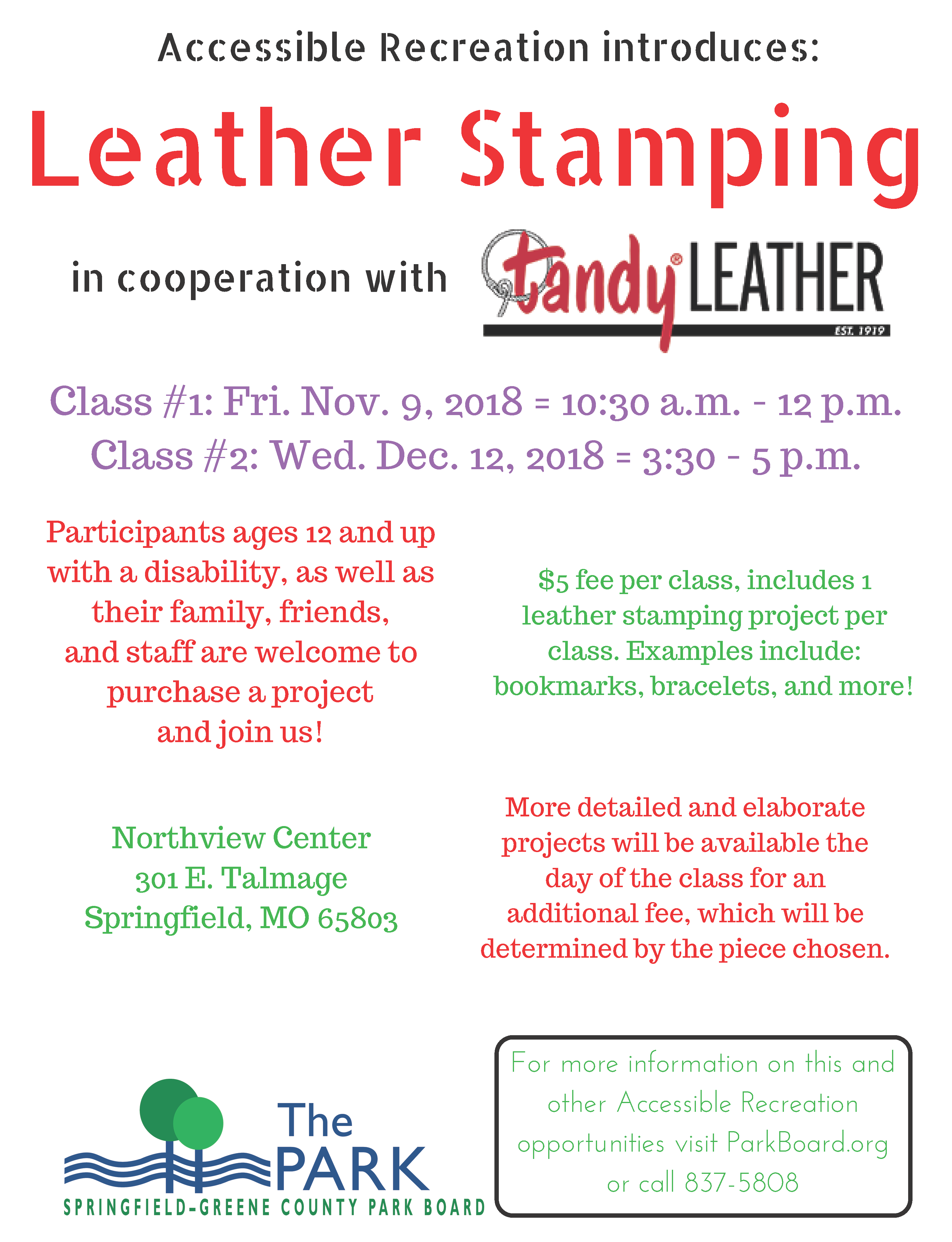 Tandy Leather Fall 2018