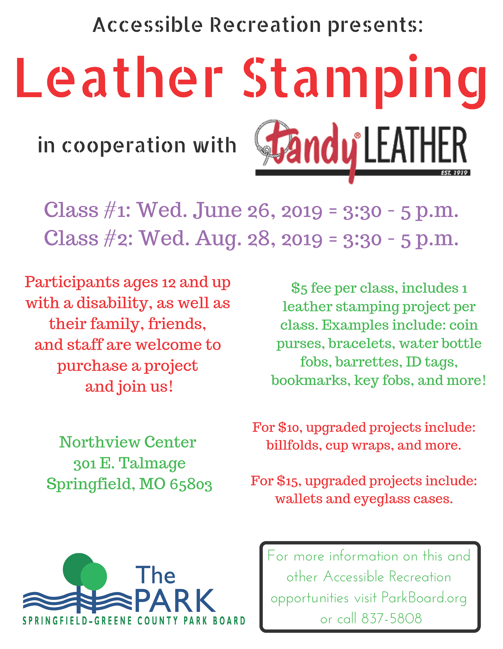 Tandy Leather June Aug 2019