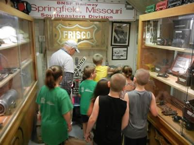 Children at the Railroad Museum