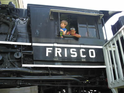 Riding on the Frisco 4524 Locomotive