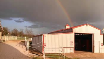 Rainbow Over the EC Barn