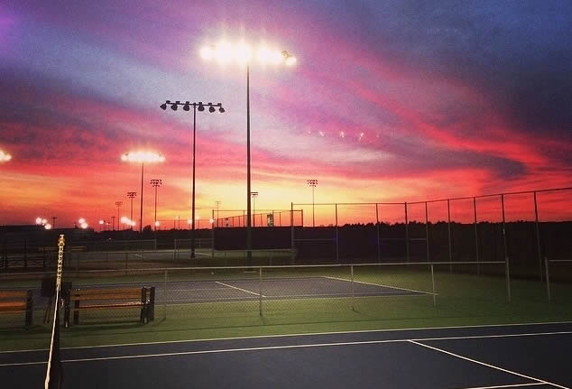 Courts at Sunset