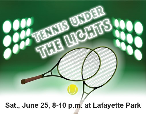 Tennis Under Lights Event Rotator